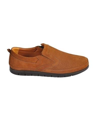 Ayakmod 2034 Hakiki Deri Nubuk Taba Erkek Günlük Ayakkabı Taba